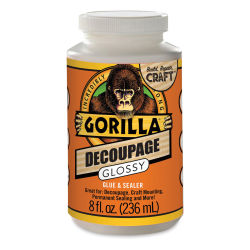 Gorilla Glue Decoupage - Glossy, 8 oz, Bottle