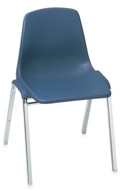 Polyshell Stacking Chair, Blue