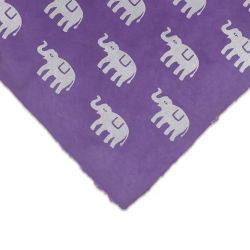 Lokta Paper - Elephant, Silver and Violet, 20'' x 30'', Single Sheet