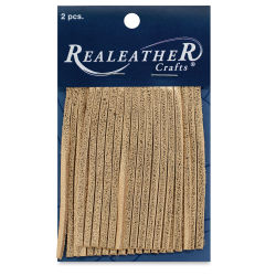 Realeather Fringe - Metallic Gold, 2'' x 3'', Pkg of 2