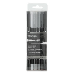 Brea Reese Dual Tip Brush Pens - Greyscale Colors, Set of 6
