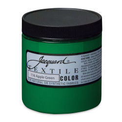 Jacquard Textile Color - Apple Green, 8 oz jar