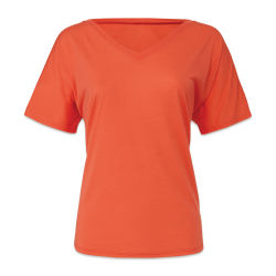 Bella + Canvas Slouchy V-neck T-shirt - Coral