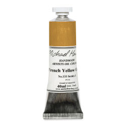 Michael Harding Artists Oil Color - French Yellow Ochre, 40 ml tube