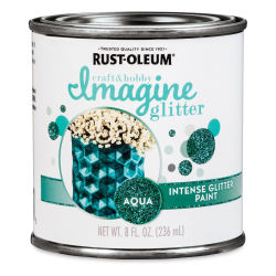 Rust-Oleum Imagine Intense Glitter Paint - Aqua, 8 oz
