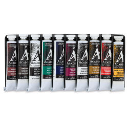 Grumbacher Academy Oil Colors - Sampler Set, Assorted colors, Set of 10, 24 ml tubes