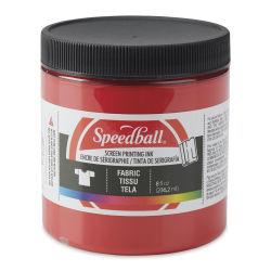 Speedball Water-Base Textile Screen Printing Ink - Red, 8 oz