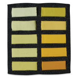 Art Spectrum Extra Soft Square Pastels - Yellows, Set of 10