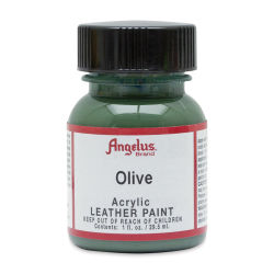 Angelus Acrylic Leather Paint - Olive, 1 oz, Bottle