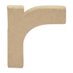 "DecoPatch Paper Mache Small Kraft Letter - R, Lowercase, 3"" W x 3-2/5"" H x 1/2"" D"