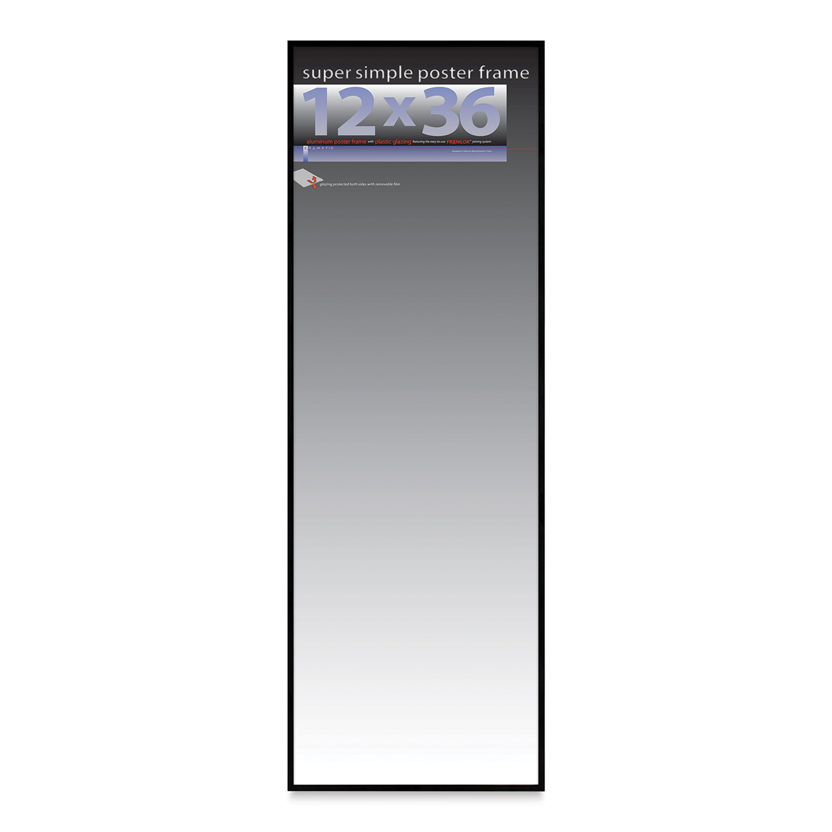 EUROLINE35 Picture Frame 20x60 or 60x20 cm with Entspiegeltem Acrylic Glass
