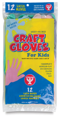 Colored Craft Gloves, Pkg of 12