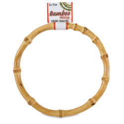 Pepperell Crafts Natural Bamboo Ring - 4''