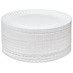 Uncoated Paper Plates - 9'' Dia, Pkg of 250