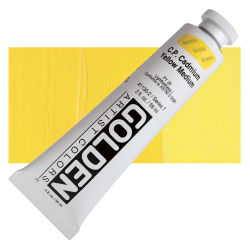 Golden Heavy Body Artist Acrylics - Cadmium Yellow Medium, 2 oz Tube