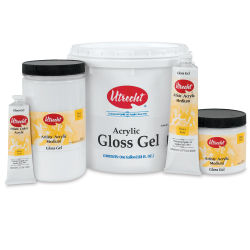 Utrecht Acrylic Gel Mediums- Gloss Gel, Assorted Sizes