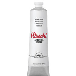 Utrecht Artists' Oil Paint - Utrecht White, 150 ml tube