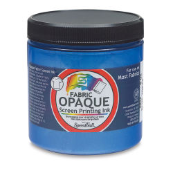 Speedball Opaque Iridescent Screen Printing Ink - Blue Topaz, 8 oz Jar