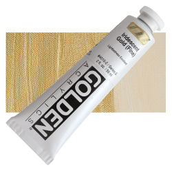 Golden Heavy Body Artist Acrylics - Iridescent Gold (Fine), 2 oz Tube