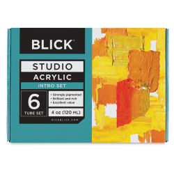 Blick Studio Acrylics - Set of 6 colors, 120 ml tubes