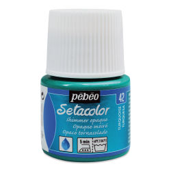 Pebeo Setacolor Fabric Paint - Turquoise, Shimmer, 45 ml bottle