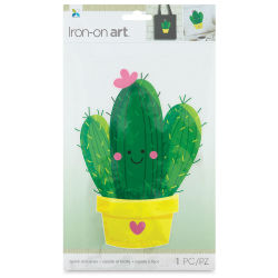 Momenta Iron-On Art - Four Color Cactus, Large
