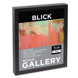 Blick Wood Gallery Frame, Black