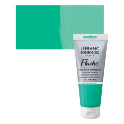 Lefranc & Bourgeois Flashe Vinyl Paint - Veronese Green Shade, 80 ml jar