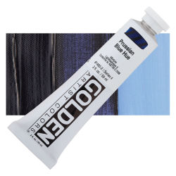 Golden Heavy Body Artist Acrylics - Prussian Blue Historic Hue, 2 oz Tube