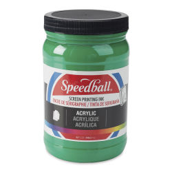 Speedball Permanent Acrylic Screen Printing Poster Ink - Emerald Green, Quart