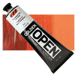 Golden Open Acrylics - Transparent Red Iron Oxide, 5 oz Tube