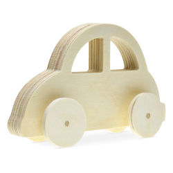 Craft Medley 3D Wood Shape - Car, 5""