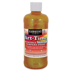 Sargent Art-Time Washable Glitter Tempera - 16 oz, Yellow
