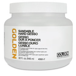 Golden Sandable Hard Gesso - 32 oz jar