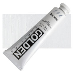 Golden Heavy Body Artist Acrylics - Zinc White, 2 oz Tube
