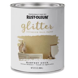 Rust-Oleum Glitter Interior Wall Paint - Harvest Gold, Quart