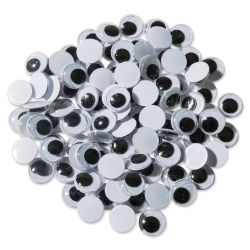 Creativity Street Wiggle Eyes - Black, 10 mm, Round, Package of 100
