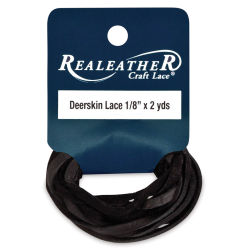 Deerskin Lace - 1/18'' x 6 ft, Black