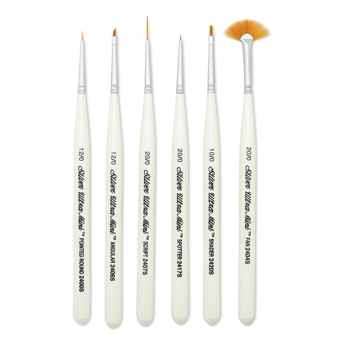 Models Oil and Body Painting Transon Artist Detail Paint Brush Set 15piece for Miniature Enamel Watercolor Gouache Acrylic Tempera