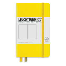 Leuchtturm1917 Notebook - Pocket Notebook, Lemon, Blank, 6'' x  3-1/2''