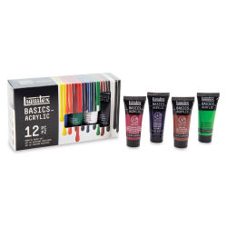 Liquitex Basics Acrylics, Set of 12