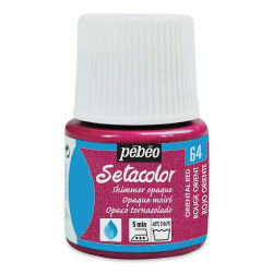Pebeo Setacolor Fabric Paint - Oriental Red, Shimmer Opaque, 45ml Bottle