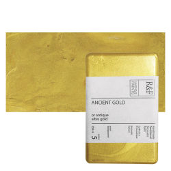 R&F Encaustic Paint Block - Ancient Gold, 333 ml, Block