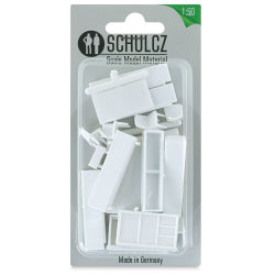 "Schulcz Scale Model Furniture Set - Dining Room, 1:50, 1/4"" (front of package)"