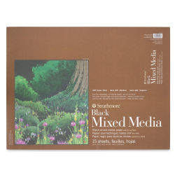 Strathmore 400 Series Black Mixed Media Pad - 18'' x 24'', 15 Sheets