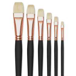 Blick Masterstroke Interlocking Bristle Brushes - Brights, Set of 6