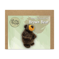 Pretty Twisted Needle Felting Animal Kit - Brown Bear