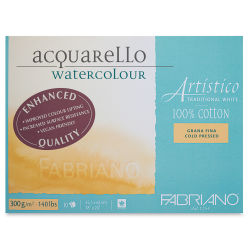 "Fabriano Artistico Enhanced Watercolor Block - Traditional White, Cold Press, 18"" x 24"""