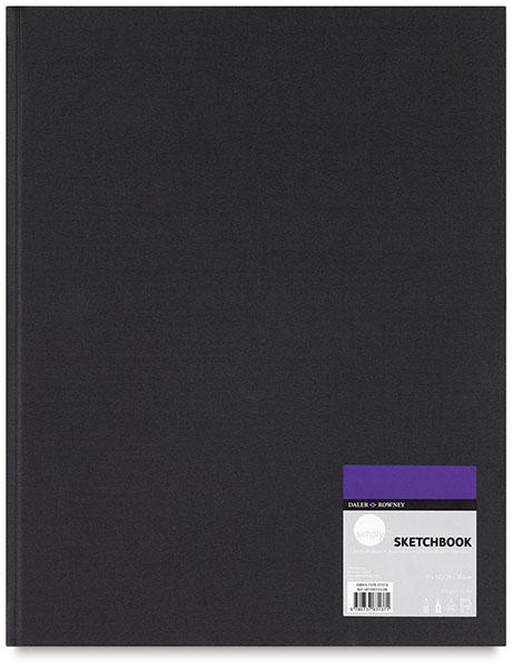 Daler-Rowney Simply Sketchbook - 11'' x 8-1/2'', Soft White, Hardbound, 110 Sheets