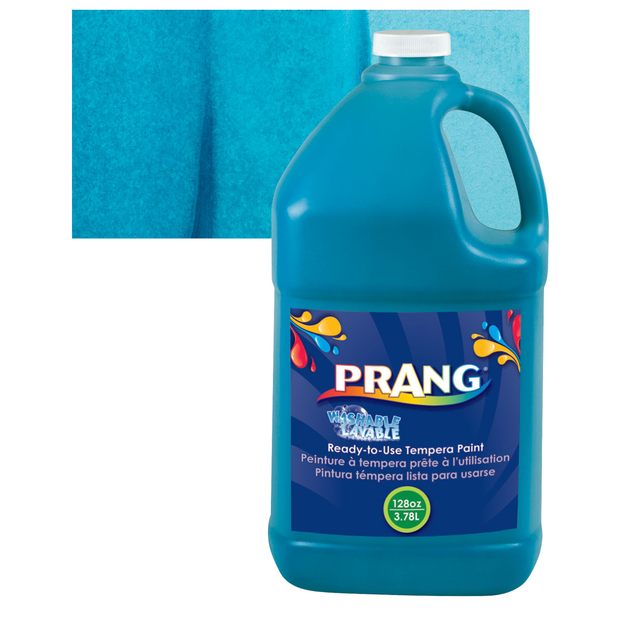 Prang Ready-To-Use Washable Tempera Paint - Turquoise, Gallon